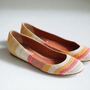 Missoni Round Toe Colorful Geometric Print Flats